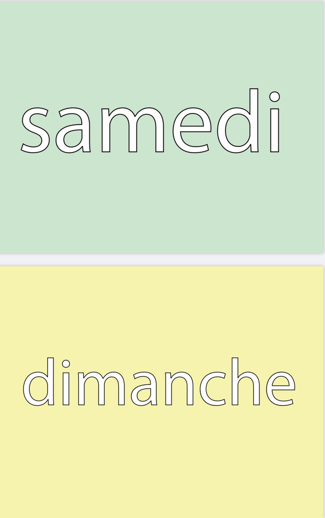 French Flash Cards Bundle