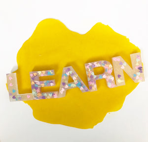 Alphabet Resin Set