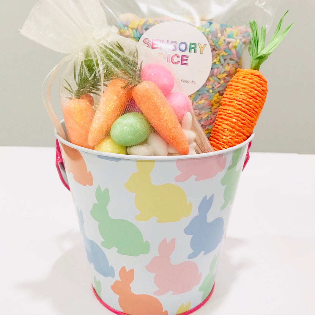 Easter Sensory Rice Pail