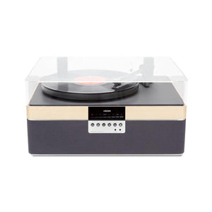 The + Audio All-In-One Carbon Record Player