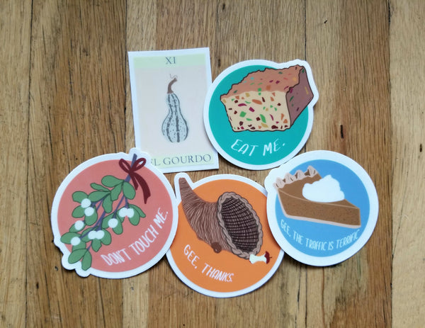 Snarky Holiday stickers (5 pack)