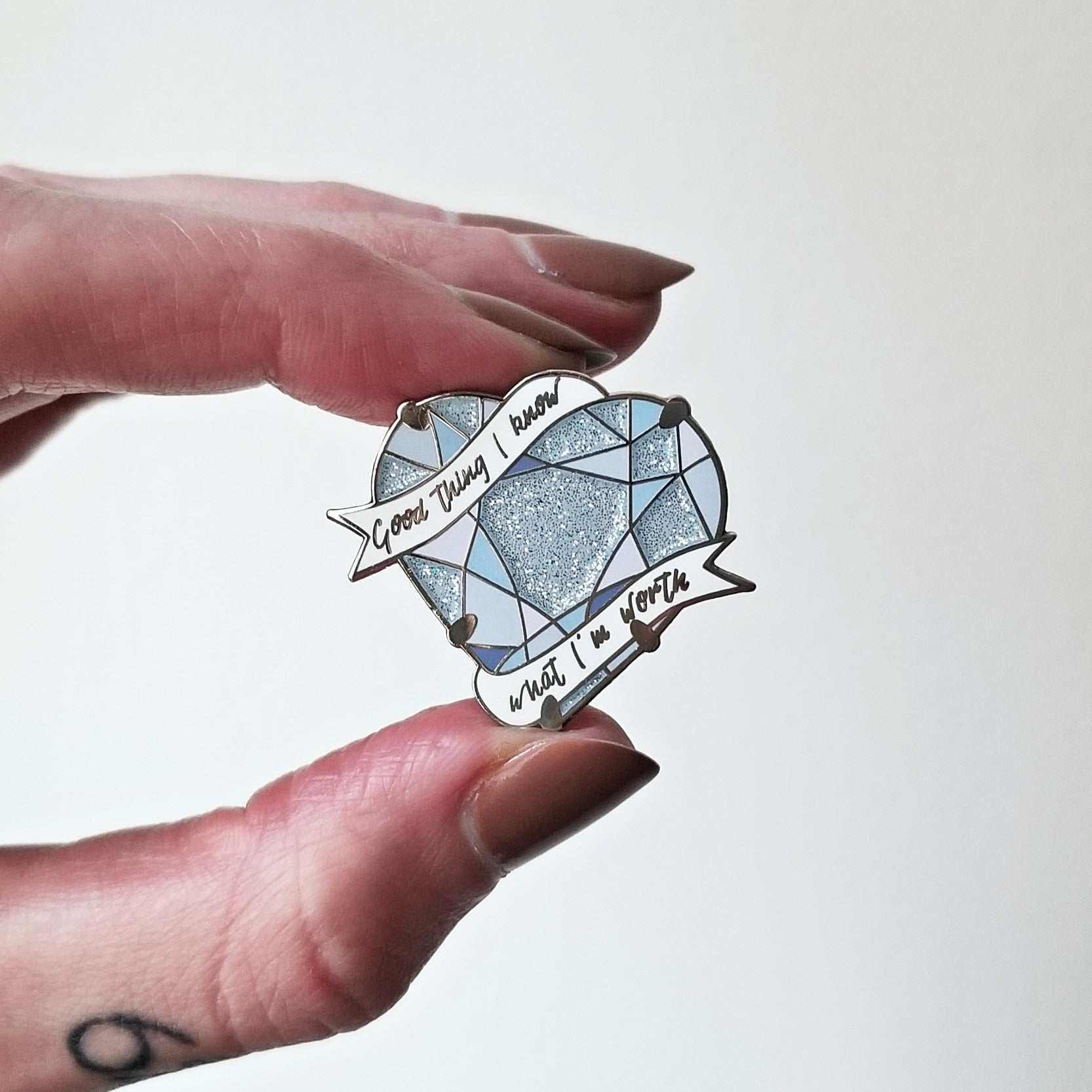 Diamond Heart pin