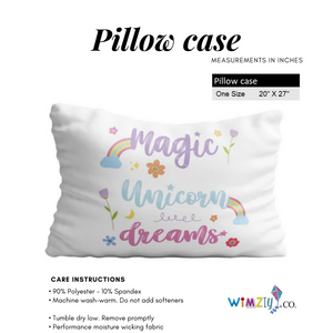 Unicorn stars name white pillow case - Wimziy&Co.