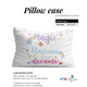 Heart name pink pillow case - Wimziy&Co.