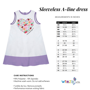 White and hot pink unicorn face a line dress with name - Wimziy&Co.