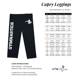 Black and white llamas girls capri leggings