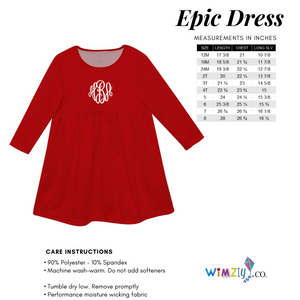 Name White Red And Blue Long Sleeve Epic Dress - Wimziy&Co.