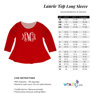 Pencils Name White Long Sleeve Laurie Top - Wimziy&Co.