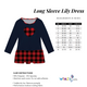 Girls navy and red plaid heart long sleeve lily dress - Wimziy&Co.