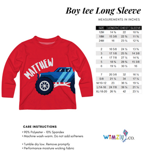 Car White Blue And Red Stripes Long Sleeve Tee Shirt - Wimziy&Co.