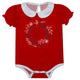 Girls red and white wreath onesie with monogram - Wimziy&Co.