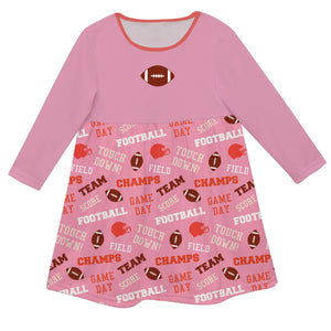 Girls pink football dress with name - Wimziy&Co.