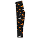 Girls black and orange bats leggings with monogram - Wimziy&Co.