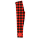 Girls red buffalo plaid leggings with monogram - Wimziy&Co.