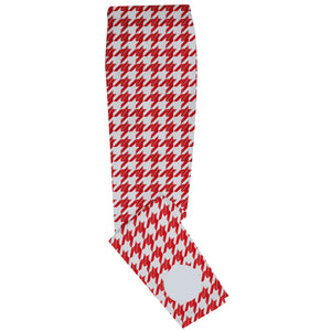 Girls red and white houndstooth leggings - Wimziy&Co.