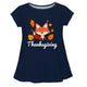 Girls navy fox blouse with name