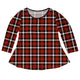 Girls red plaid long sleeve blouse with name - Wimziy&Co.