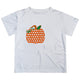 Boys white and orange pumpkin tee shirt with name and initial - Wimziy&Co.