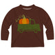 Boys brown pumpkin and truck tee shirt with name - Wimziy&Co.