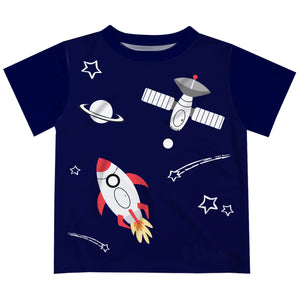 Space Navy Short Sleeve Tee Shirt - Wimziy&Co.