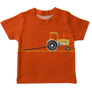 Boys orange pick-up tee shirt with name - Wimziy&Co.