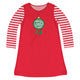 Girls red and green ornaments dress - Wimziy&Co.