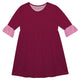 Girls maroon and pink dress with monogram - Wimziy&Co.