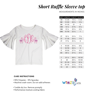 Smarty Pants Pink Short Sleeve Ruffle Top - Wimziy&Co.