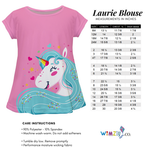Mardi Gras Name White Short Sleeve Laurie Top - Wimziy&Co.