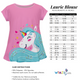 Unicorn Name White Short Sleeve Laurie Top - Wimziy&Co.