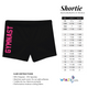 Hot pink glitter and Black dance shorts with monogram - Wimziy&Co.