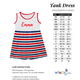 American Name Navy Tank Dress - Wimziy&Co.