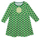 Clovers Print Monogram Green Long Sleeve Epic Dress - Wimziy&Co.