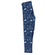 Navy and blue Christmas elements girls leggings with monogram - Wimziy&Co.