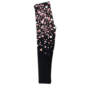 Hearts Name Black Leggings - Wimziy&Co.