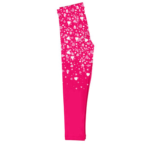 Hearts Name Hot Pink Leggings - Wimziy&Co.