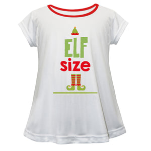 Girls white and red elf blouse with name