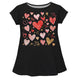 Hearts Name Black Short Sleeve Laurie Top - Wimziy&Co.