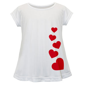 Hearts Name White Short Sleeve Laurie Top - Wimziy&Co.