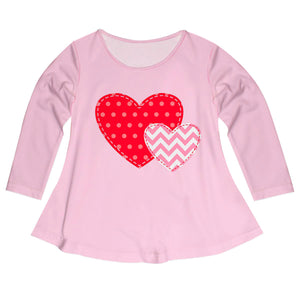 Hearts Name Light Pink Long Sleeve Laurie Top - Wimziy&Co.