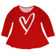 Heart Name Red Long Sleeve Laurie Top - Wimziy&Co.