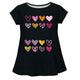 Hearts Name Black Short Sleeve Laurie Top