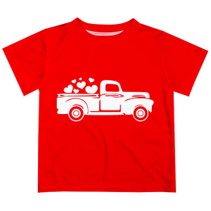 Heart Truck Name Red Short Sleeve Tee Shirt - Wimziy&Co.