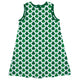 Clovers Print Monogran White A Line Dress