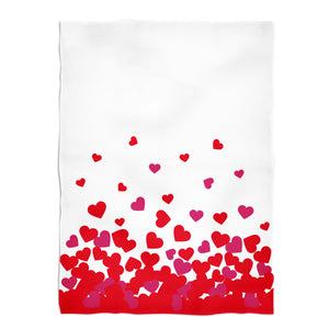 Hearts Name White Fleece Blanket - Wimziy&Co.