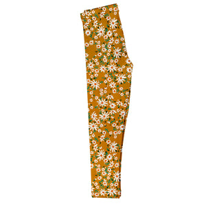 Girls yellow floral leggings - Wimziy&Co.