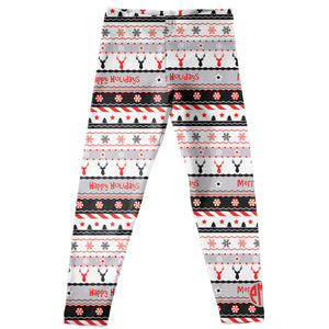 Girls white and black deers leggings - Wimziy&Co.