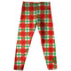 Girls red and green plaid leggings with monogram - Wimziy&Co.