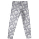 Girls white and grey leggings with name and monogram - Wimziy&Co.