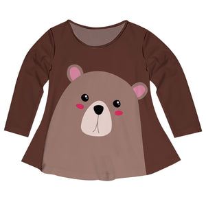 Girls brown bears blouse with name - Wimziy&Co.